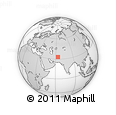 Outline Map of Kharvāz, rectangular outline
