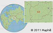 "Savanna Style Location Map of the area around 33°4'42""N,64°40'30""E"