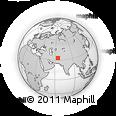 Outline Map of Hezārboz, rectangular outline