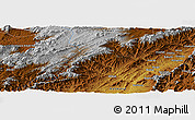 """Physical Panoramic Map of the area around 33°4'42""""N,64°40'30""""E"""