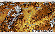 """Physical 3D Map of the area around 33°4'42""""N,65°31'30""""E"""