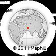 Outline Map of Sāqbor, rectangular outline