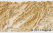 """Satellite 3D Map of the area around 33°4'42""""N,66°22'30""""E"""