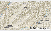 """Shaded Relief 3D Map of the area around 33°4'42""""N,66°22'30""""E"""