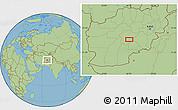"Savanna Style Location Map of the area around 33°4'42""N,66°22'30""E"