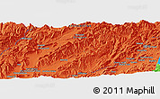 """Political Panoramic Map of the area around 33°4'42""""N,66°22'30""""E"""