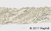 """Shaded Relief Panoramic Map of the area around 33°4'42""""N,66°22'30""""E"""