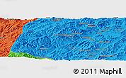 Political Panoramic Map of Āb Rowshan