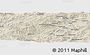 Shaded Relief Panoramic Map of Āb Rowshan