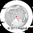 Outline Map of Achu, rectangular outline