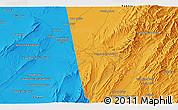 Political 3D Map of `Abdollāh Khān Kalay