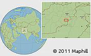Savanna Style Location Map of `Abdollāh Khān Kalay