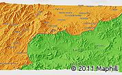 Political 3D Map of Akbar Khān Kalay
