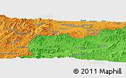 Political Panoramic Map of Akbar Khān Kalay