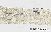 Shaded Relief Panoramic Map of Akbar Khān Kalay