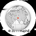 Outline Map of Kamar Mashani, rectangular outline