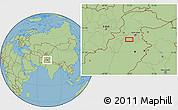 "Savanna Style Location Map of the area around 33°4'42""N,72°19'29""E"