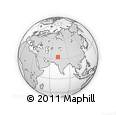 """Outline Map of the Area around 33° 4' 42"""" N, 72° 19' 29"""" E, rectangular outline"""