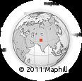Outline Map of Kadrīn, rectangular outline