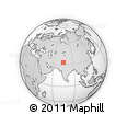 """Outline Map of the Area around 33° 4' 42"""" N, 74° 52' 30"""" E, rectangular outline"""