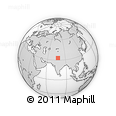 """Outline Map of the Area around 33° 4' 42"""" N, 77° 25' 30"""" E, rectangular outline"""