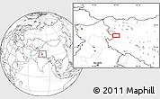 Blank Location Map of Risum
