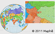 Political Location Map of Risum
