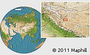 Satellite Location Map of Risum
