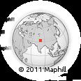 Outline Map of Risum, rectangular outline