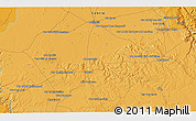"""Political 3D Map of the area around 33°4'42""""N,7°34'30""""W"""