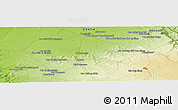 "Physical Panoramic Map of the area around 33° 4' 42"" N, 7° 34' 30"" W"