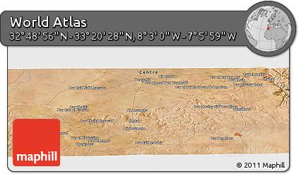 "Satellite Panoramic Map of the Area around 33°4'42""N,7°34'30""W"