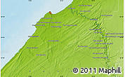 Physical Map of Douar el Fahs