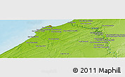 Physical Panoramic Map of Douar el Ahrech
