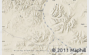 "Shaded Relief Map of the area around 33° 4' 42"" N, 91° 52' 30"" E"
