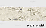 "Shaded Relief Panoramic Map of the area around 33° 4' 42"" N, 91° 52' 30"" E"