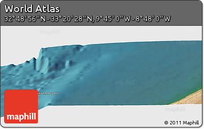 "Satellite Panoramic Map of the Area around 33°4'42""N,9°16'30""W"