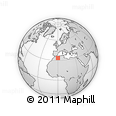 """Outline Map of the Area around 33° 32' 52"""" N, 0° 4' 30"""" E, rectangular outline"""