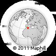 Outline Map of El Maharra, rectangular outline