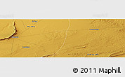 """Physical Panoramic Map of the area around 33°32'52""""N,0°4'30""""E"""