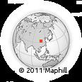 Outline Map of Fenghuangzhen, rectangular outline