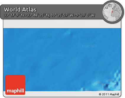 """Shaded Relief 3D Map of the Area around 33°32'52""""N,10°7'30""""W"""
