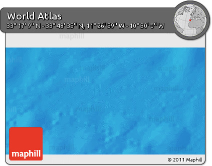 """Shaded Relief 3D Map of the Area around 33°32'52""""N,10°58'29""""W"""
