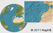 """Satellite Location Map of the area around 33°32'52""""N,10°58'29""""W"""