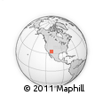Outline Map of San Carlos, rectangular outline