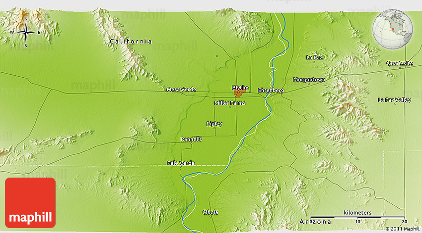 Physical 3D Map of Mesa Verde
