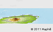 Physical Panoramic Map of Cheju