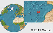 """Satellite Location Map of the area around 33°32'52""""N,12°40'30""""W"""
