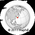 Outline Map of Ao Island, rectangular outline