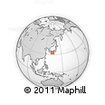 Outline Map of Shikoku, rectangular outline
